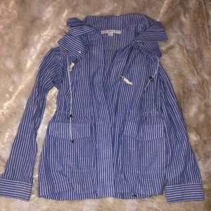 Blue & white striped jacket